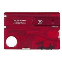 Victorinox Swiss Card Lite Translucent červený