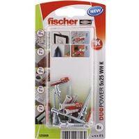 fischer DUOPOWER 5 x 25 univerzální hmoždinka + skoba