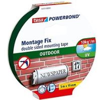tesa Powerbond Montážní oboustranná pěnová páska pro exteriér, bílá, 5m:19mm