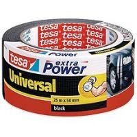 tesa Extra Power Universal, textilní, černá, 25m:50mm