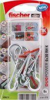 fischer DUOPOWER 6 x 30 univerzální hmoždinka + hák