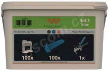 System Leveling Aplikační SET 100/100/1 - 1mm