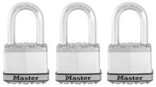 MasterLock Excell M5EURTRILF Set 3 ks titanových visacích zámků