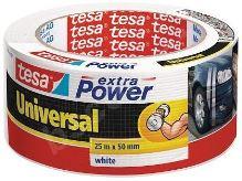 tesa Extra Power Universal, textilní, bílá, 25m:50mm