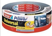 tesa Extra Power Universal, textilní, stříbrná, 50m:50mm