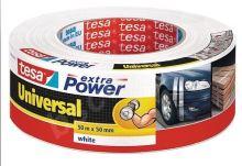 tesa Extra Power Universal, textilní, bílá, 50m:50mm