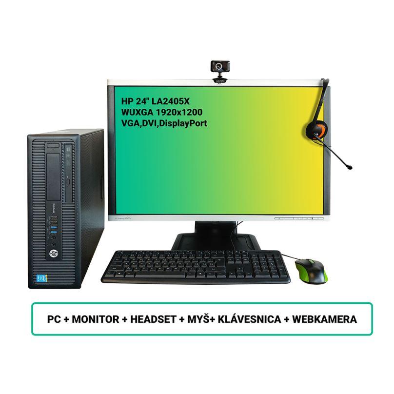 """Renovovaný SET HP ProDesk 600 G1 SFF + HP 24"""" LA24, záruka 24 měsíců"""