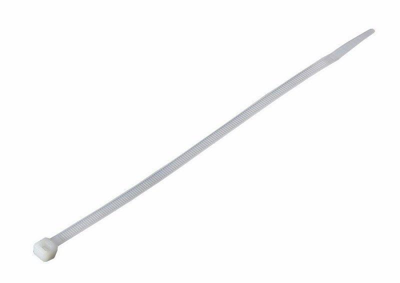 Solight vázací nylonové pásky, 4,8 x 350mm, natural, 100ks